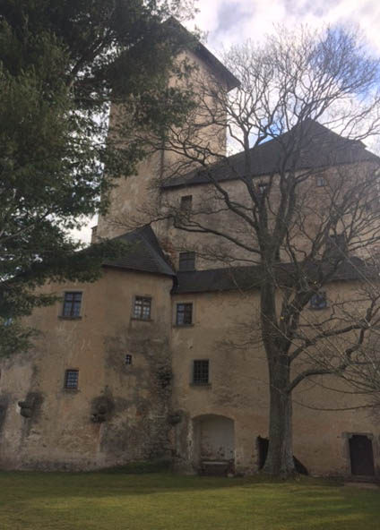 Writing in a castle for Nanowrimo